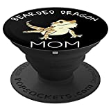 Bearded dragon painting art PopSockets Grip and Stand for Phones and Tablets