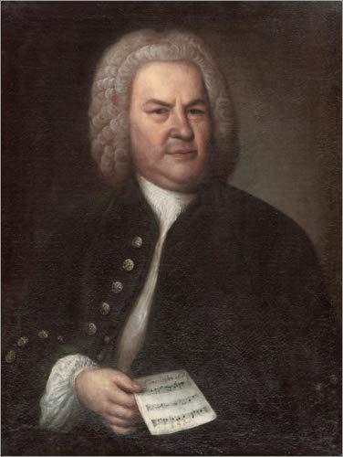 Poster 30 x 40 cm: Johann Sebastian Bach von Elias Gottlob Haussmann - hochwertiger Kunstdruck, neues Kunstposter