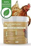 Natureflow Kieselgur im 4kg Eimer für Hühnerställe – 100% Rein, Natürliche Diatomeenerde - Einfache Anwendung, Hochwertiges Kieselgur Pulver