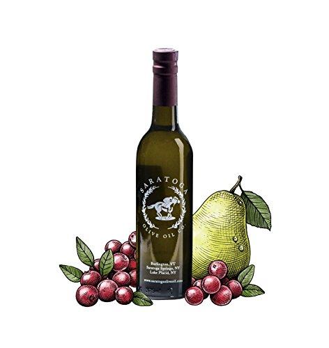 Saratoga Olive Oil Company Cranberry Pear White Balsamic Vinegar 375ml (12.7oz)
