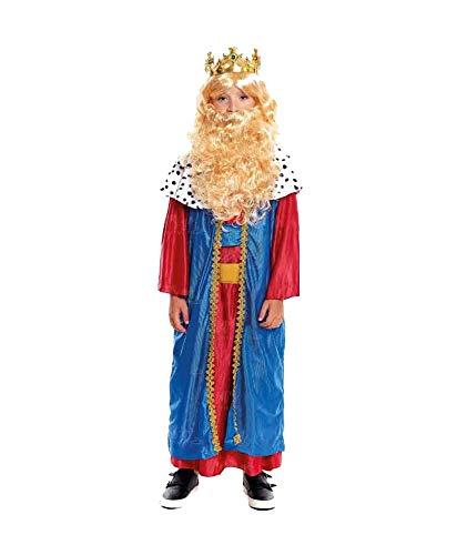 H HANSEL HOME Disfraz Rey Melchor Infantil - Nio Vestido para Cosplay/Navidad Size 5-6 aos