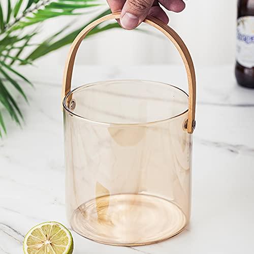 Ice Buckets Vaso con pinzas, cesta portátil para enfriar, organizador de múltiples usos, para vino, champán, cerveza, bebidas de cerveza y refrescos de manera uniforme