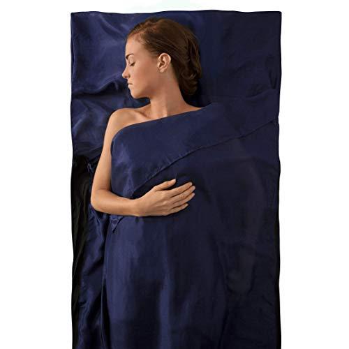 Sea to Summit Silk Stretch Liner-Traveller (with Pillow Slip) Almohada Montañismo, Alpinismo y Trekking, Adultos Unisex, Azul (Blue), Talla Única