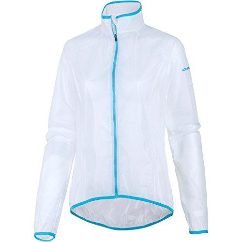 Ziener Damen Regenjacke CIBA, white/pool blue, 44