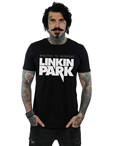 Absolute Cult Linkin Park Hombre Minutes To Midnight Logo Camiseta Negro Medium