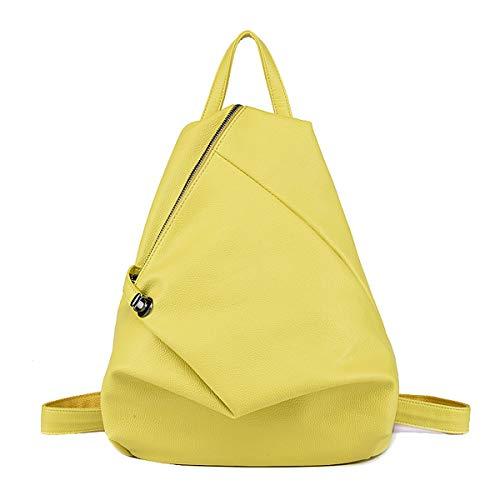 Tisdaini Bolsos mochila mujer moda casual marca colegio viaje escolares Bolsos bandolera ES895 Amarillo