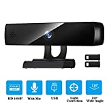 HD Webcam 1080p Streaming USB Computer Camera 30fps for Desktop Laptop Mac Video Conferencing with Microphone Mic