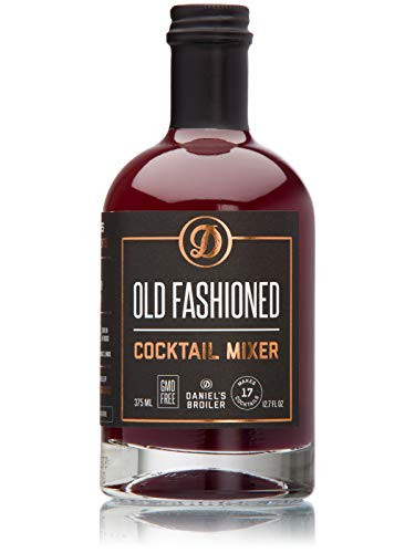 Daniel's Broiler, Old Fashioned Cocktail Mix, Straight from our Steakhouse, Just Add Spirits & Garnish, Craft Cocktail Mixers made in Small Batches with Bitters & Organic Sugar (375 ml)