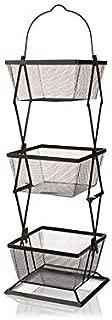 Origami 3-Tier Basket Vegetable Bin Snack Organizer Fruit Rack/Onion Basket/Kitchen Counter Storage for Farmhouse Veggies Fruits or Storage Organizer Metal Wire/Fully Assembly, Bronze