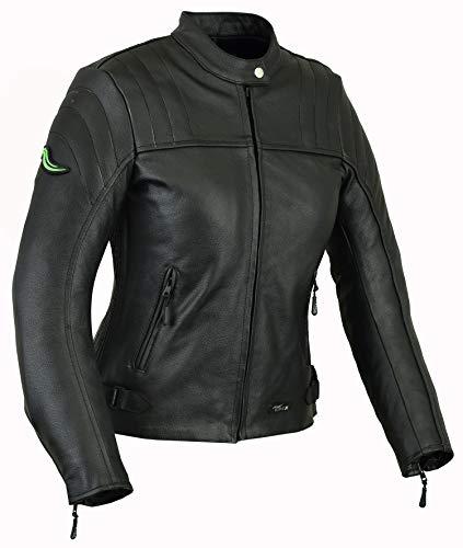 RIDEX LJ6 Veste de moto en cuir avec protection CE pour femme (14)
