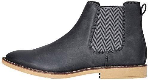find. Marsh Herren Chelsea Boots Stiefel, Grau (Charcoal Nubuck Look), 47 EU