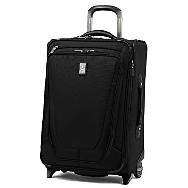 Travelpro Luggage Crew 11 22  Carry-on Expandable Rollaboard with Suiter and USB Port, Black