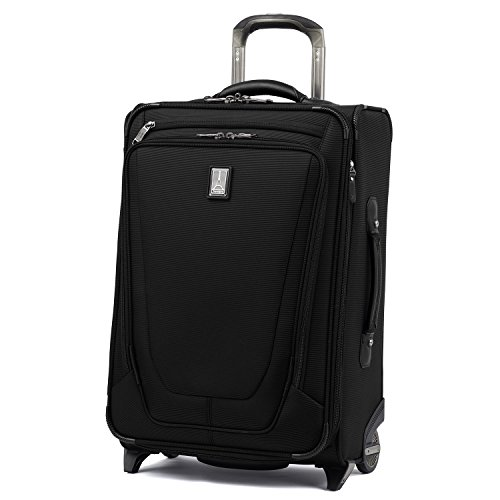 Travelpro Crew 11-Softside Expandable Rollaboard Upright Luggage, Black, Carry-On 22-Inch