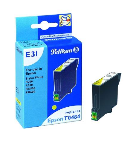 Pelikan 343918 - Cartucho de tinta Epson Stylus Photo R300, R200, 500, 600 - T0484 - Amarillo