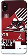 1 piece Trend Ow off Air Jordan AJ1 Sport Shoes Phone Cases for iphone 6 6S 7 8 Plus Blue White Soft Cover Case for iphone X XR XS MAX