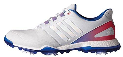 adidas Damen Adipower Boost Golfschuhe, Mehrfarbig (Gris / Azul / Rosa), 37 1/3