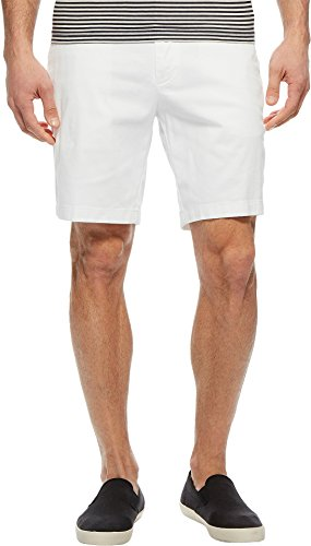 Nautica Men's Classic Fit Flat Front Stretch Solid Chino Deck Short, Bright White, 34W
