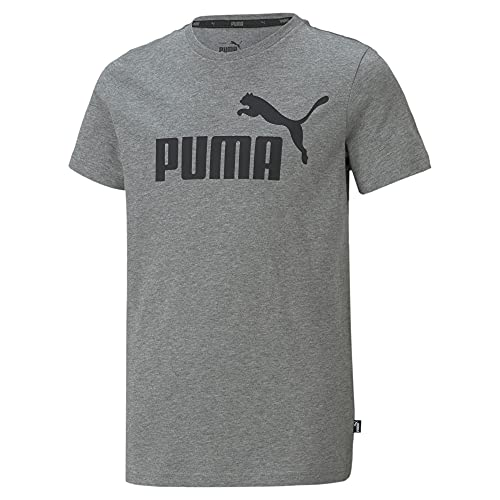 PUMA ESS Logo tee B Camiseta, Niños, Medium Gray Heather, 164