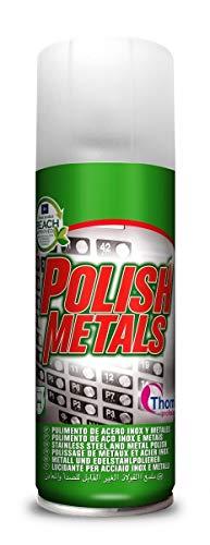 THOMIL Polish Metals. Pulimento Limpiador en Espuma para Acero INOX y Metales. 400ml