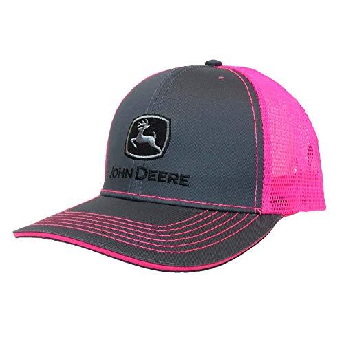 John Deere Toddler/Kids Mesh Back Cap (Charcoal/Pink)