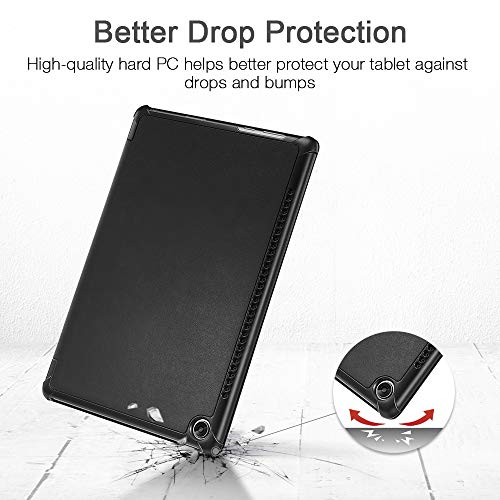 ESR Hülle kompatibel mit Huawei MediaPad M5 / M5 Pro Hülle 10,8 Zoll - Ultra dünnes Yippee Trifold Smart Case mit Auto Schlaf-/Wachfunktion und Standfunktion - Schutzhülle mit PC Rückseite - Schwarz - 4