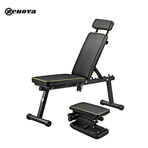 ZENOVA Adjustable Weight Bench with Fast Folding, Strength Training Bench for Full Body Workout, Exercise Workout Bench for Home Gym