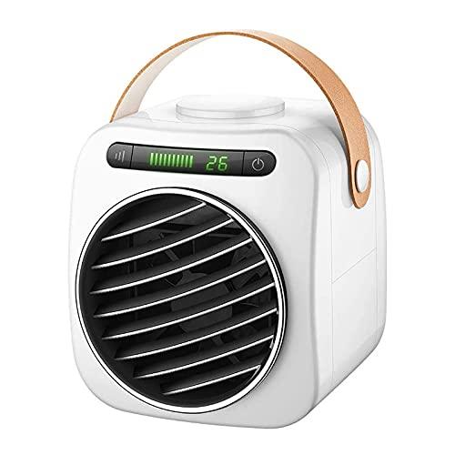HALIGHT Aire Acondicionado portátil, Ventilador de Aire Acondicionado evaporativo Recargable con 3 velocidades, Enfriador de Aire Personal con asa, para el hogar, la Oficina