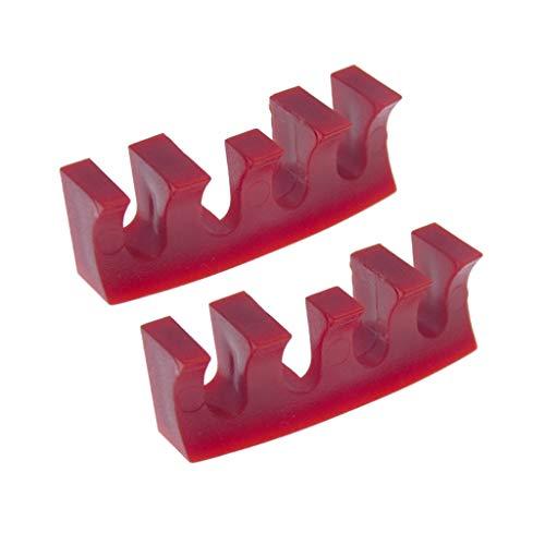 Karrychen - Protector de Adaptador de esparcidor de Carga de Raqueta, 2 Piezas, Color Rojo