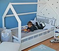completo letto&casa+materasso ECO,stile scandinavo,bambino 160x80cm+sponde (colore del letto: bianco) #6