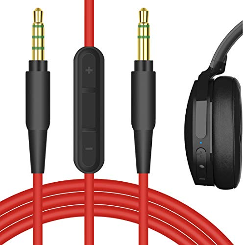 Geekria QuickFit Cable estéreo 3,5 mm para auriculares Skullcandy HESH3, HESH2, HESH, Grind, VENUE, cassette, trituradora, aviador, cable audio repuesto con micrófono y control de volumen ( 5,6 pies)