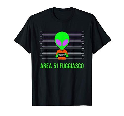 Area 51 fuggiasco - Divertente costume da alieno Maglietta