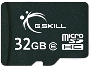 G.Skill 32GB Class 6 MicroSDHC Flash Card with SD Adapter (FF-TSDG32GA-C6)