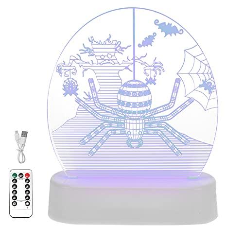 Miouldram La luz nocturna 3D adopta con buena durabilidad, tenacidad y fuerza, posee una buena conductancia de calor, no se sobrecalienta bien después de un uso prolongado