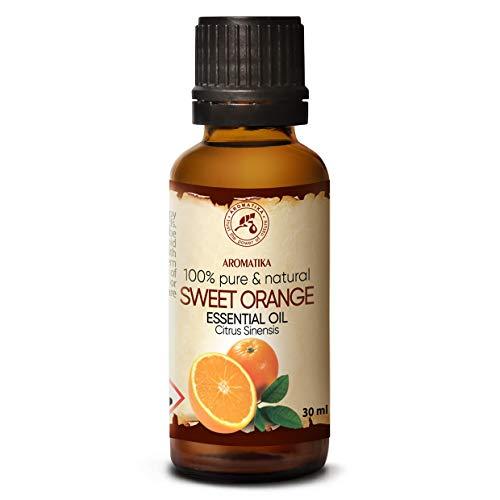 Orangenöl 30ml - Citrus Sinensis - Brasilien - 100{b407eee39ea6d3e8d332f9782f8cf8d14474bc2bd3975222a0b0e3abb1a4623d} Naturreines -Orangen Öl für Guten Schlaf - Raumduft - Duftlampe - Körperpflege - Wellness - Raumduft - Duftlampe - Orangenöl Ätherisch