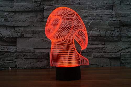 Regalo de la lámpara de mesa 3D tridimensional colorido USB Led luz de la noche cambio de humor botón de iluminación regalo   Regalo de halloween colorida luz de noche multicolor