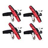 V-Brake Bremsbeläge 70mm Symmetrisch Passgenaue Bremsklötze Hohe Bremsleistung Langlebiger Bremsbelag Mountainbike Bremsbeläge Geräuschlose Bremsbeläge für Fahrräder Langlebige mit Bolzen 4*PCS