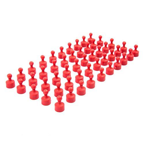 50 vollfarbige rote Neodym Magnet-Pins/Push-Pins für Whiteboard, Kühlschrank
