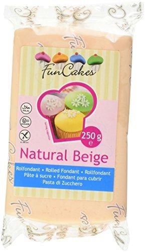 FunCakes Pasta di Zucchero Beige Naturale, 250 g