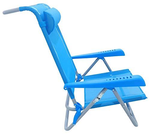 Meerweh Strandstuhl, verstellbar saphir blau Armlehne blau