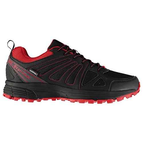 Karrimor Caracal Chaussures de course imperméables pour homme - Noir - noir/rouge, 45 EU