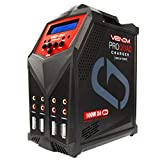 Venom Pro Quad LiPo Battery Fast Charger | 4 Ports at 100W Each | AC DC 7A Fast NiMH LiHV LiPo Balance Charger Discharger with XT60, HXT, Traxxas to EC3, JST, Deans Connector, Tamiya Charger