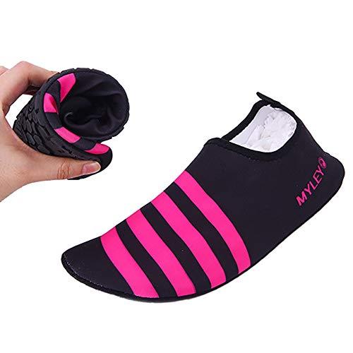 EFINNY Zapatos de Agua para Hombres Mujeres Calzado Playa natación Buceo Surf Ciclismo Zapatos de Suela Blanda