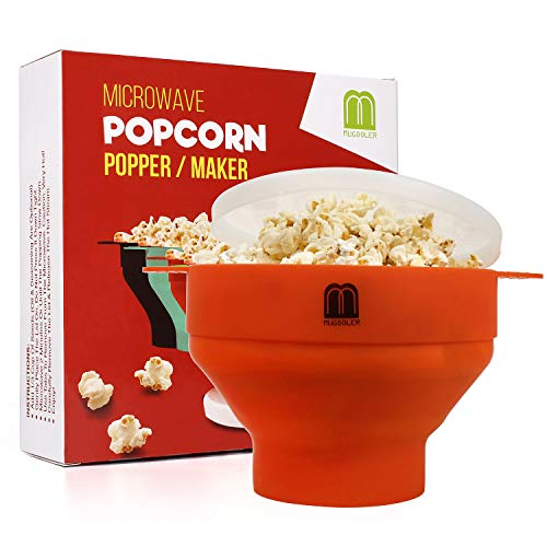 Buy Discount MUGOOLER Microwave Popcorn Popper Silicone Popcorn Maker Collapsible Bowl BPA Free (Ora...