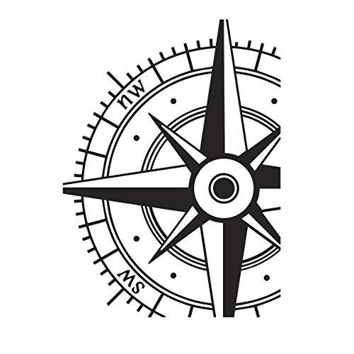 Darice Embossing Folder Prägefolder - Schablone, Kompass, Plastik, Transparent, 10.8 x 14.6 x 0.11 cm