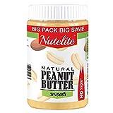 Nutelite Peanut Butter (No Sugar) - Smooth (Non-GMO, Gluten Free, Vegan), 900 g