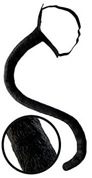 Black Cat Tail Costume Accessory Neko Long Furry Tails Sexy Women Costume for Halloween & Cosplay Adult / Adults