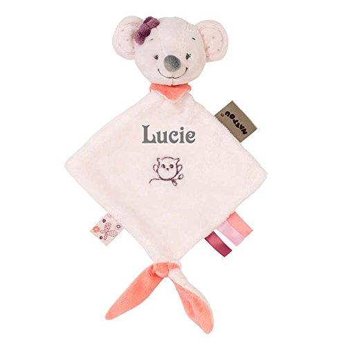 Kleines Schmusetuch Valentine die Maus mit Name