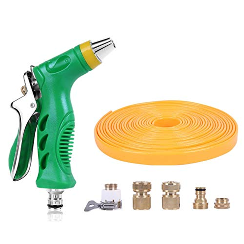 Zhangapn1 Tuinslang pistool – hogedruk spuitpistool met sproeikop van messing volledige legering voor het wassen van auto/irrigatie van gazon en tuin