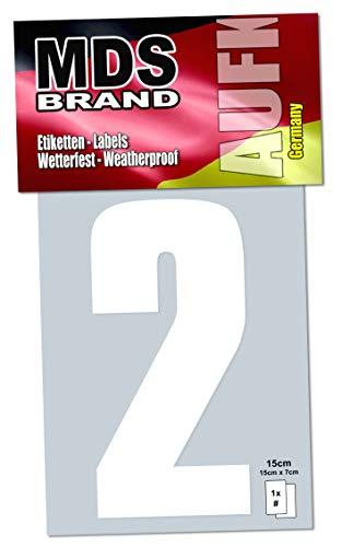 15cm Zahlenaufkleber Klebezahlen Selbstklebend Aufkleber und Nummer Etiketten Weiss (2)