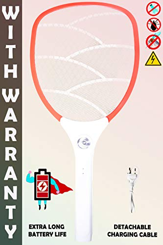 WEIRD WOLF Electric Mosquito Killer Bat Racket Trap with Powerful Battery Mosquito Bat (multicolor)